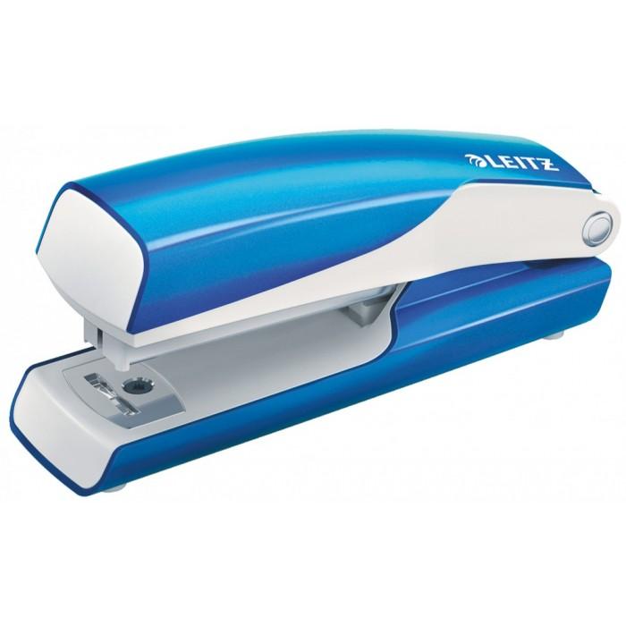 Мини-степлер Leitz WOW NeXXt, № 10, 10л, синий металлик