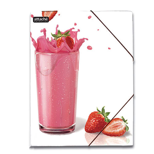 Картонная папка на резинке Attache Selection Delicious, А4, до 250 листов, Juice