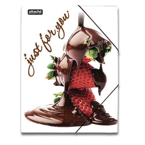 Картонная папка на резинке Attache Selection Delicious, А4, до 250 листов, Sweets