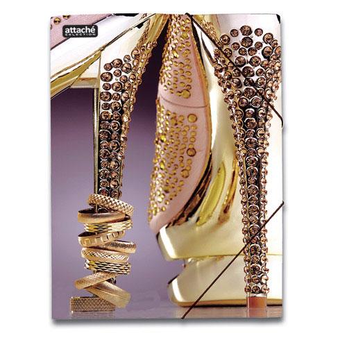 Картонная папка на резинке Attache Selection Luxury, А4, до 250 листов, Shoes