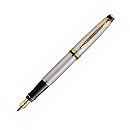 Ручка перьевая Werman Expert, F, синяя, стальной корпус