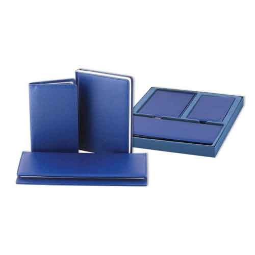 Набор (ежедневник,планинг,визитница) недатированный InFolio Magellan, синий