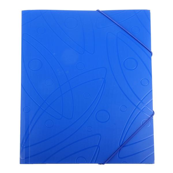 Пластиковая папка на резинке Бюрократ Galaxy GA510blue/816767, A4, 30мм, синяя
