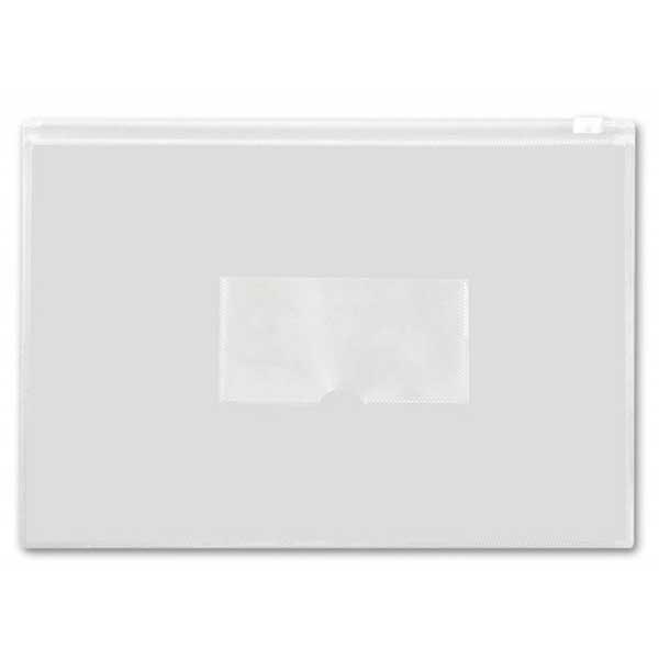 Пластиковая папка на молнии Бюрократ BPM4AWT, А4, 150мкм, белая