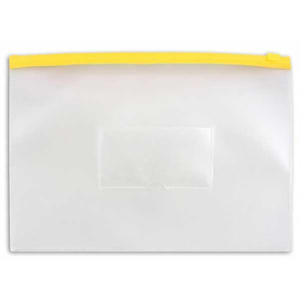 Пластиковая папка на молнии Бюрократ BPM4AYEL, А4, 150мкм, желтая