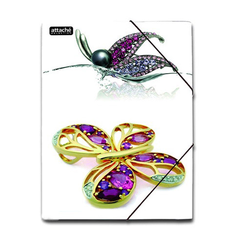 Картонная папка на резинке Attache Selection Luxury, А4, до 250 листов, Butterfly