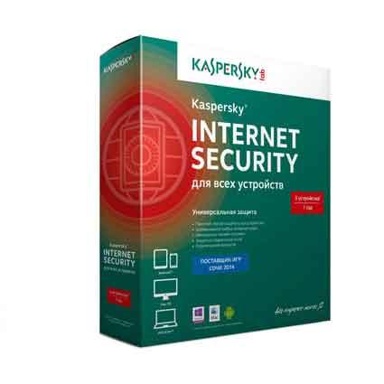 Антивирус Kaspersky Internet Security 2014, 3ПК/1год