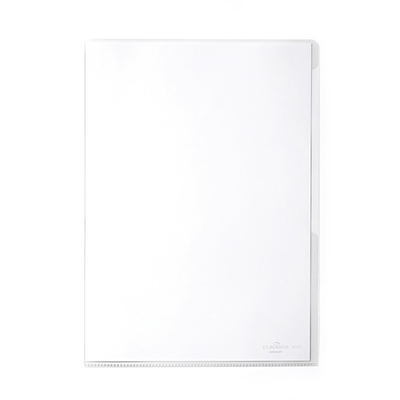 Папка-уголок Durable 231219, A4, 120мкм, прозрачная, 50шт/упак, 231219