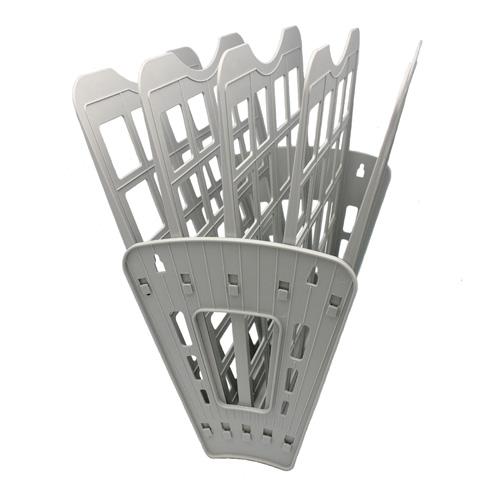 Многосекций лоток для бумаг Оскол-Пласт Веер эконом, А4, 275х365х325 мм, 5 секций, серый