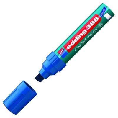 Маркер для флипчарта Edding 388, синий, 4-12мм, скошенный наконечник