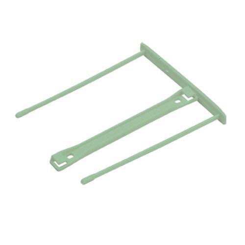 Механизм для скоросшивателя металлопластиковый Fellowes FS-0089702, 100шт/уп, зеленый