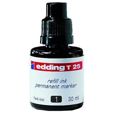 Чернила для маркеров перманент EDDING E-T25/1, черный, 30 мл