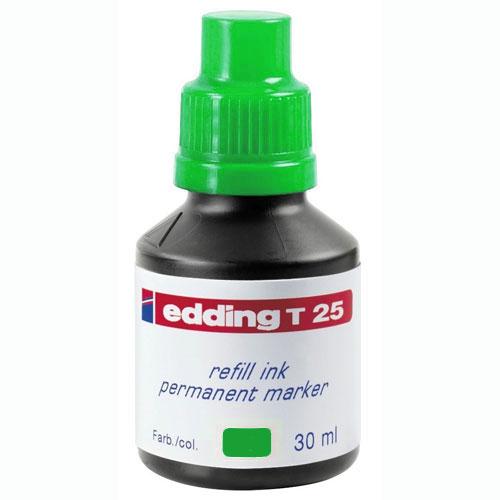 Чернила для маркеров перманент EDDING TE-T25/4, зеленый, 30 мл