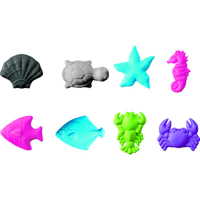 Ластик Brunnen Обитатели моря, 60х40,фиолетовый