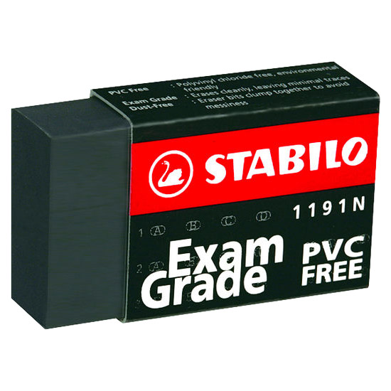 Ластик Stabilo, 1191N, черный