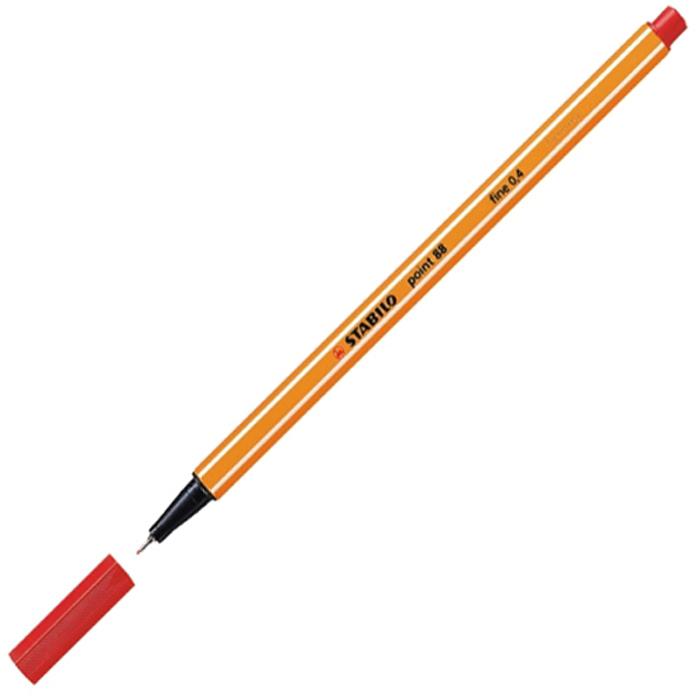 Линер Stabilo Point 88, 0,4мм, красный