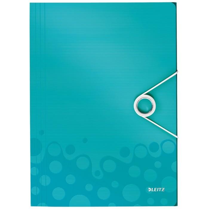 Пластиковая папка на резинке Leitz Wow 45990051, A4, 8мм, бирюзовый