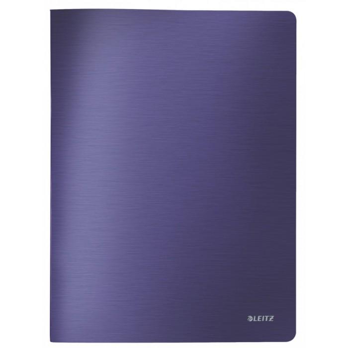 Папка файловая Leitz Style 39590069, на 40 файлов, А4, синяя титан
