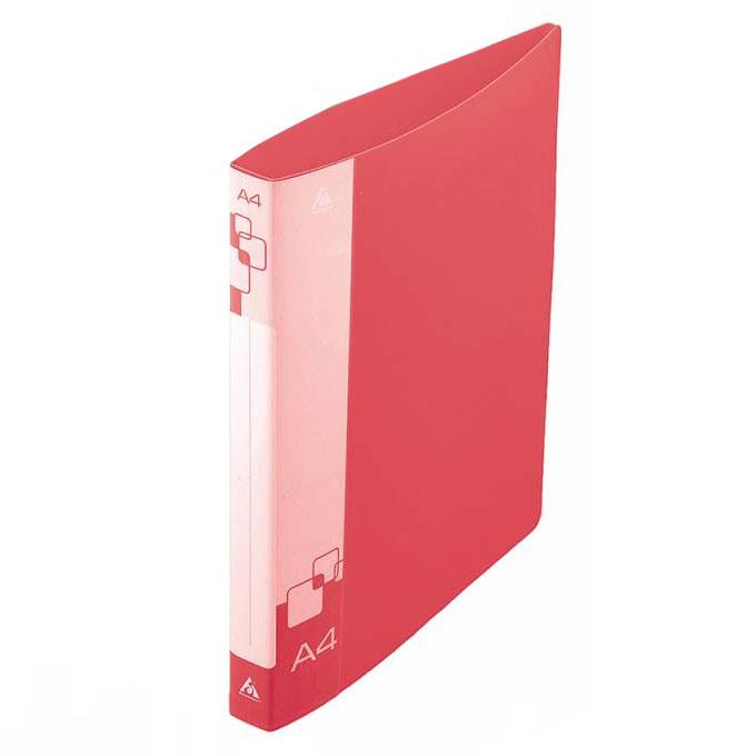 Папка на 4-х кольцах Бюрократ 0827/4RRED, А4, 27 мм, красная