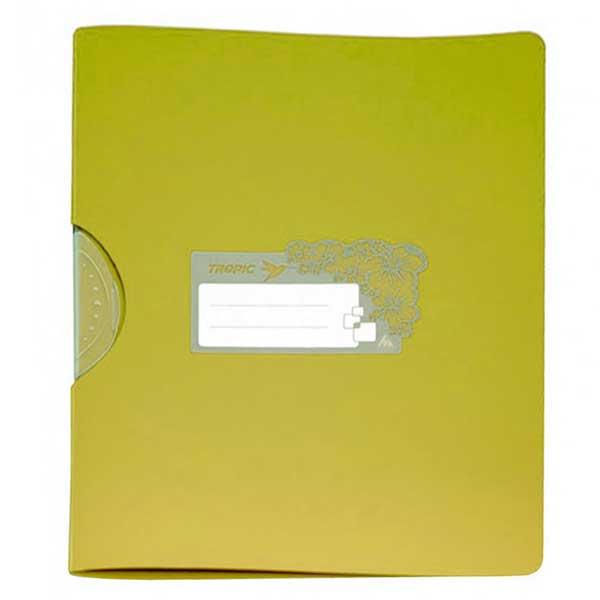 Пластиковая папка с клипом Бюрократ Tropic TR550yel/816910, А4, до 30 листов, желтая