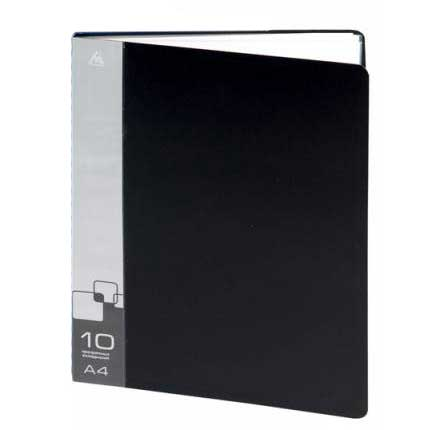 Папка файловая Бюрократ BPV10BLACK, на 10 файлов, А4, черная