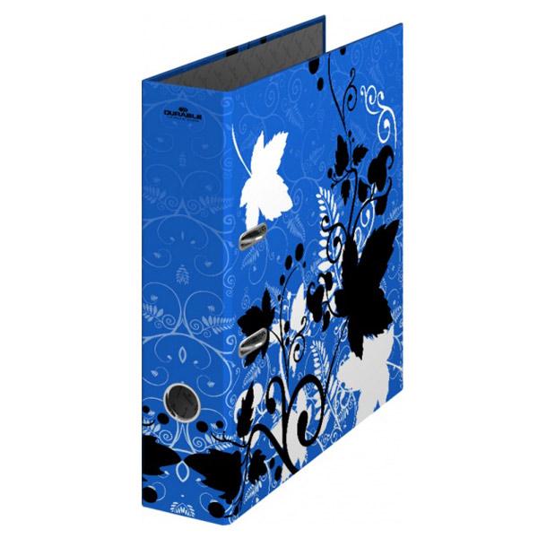 Папка-регистратор А4 Durable 5110-07-1-02, 70мм, синяя-листья, 5110-07-1-02