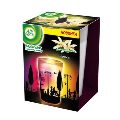 Ароматизированная свеча Airwick Multicolor, французкая ваниль 0,152кг