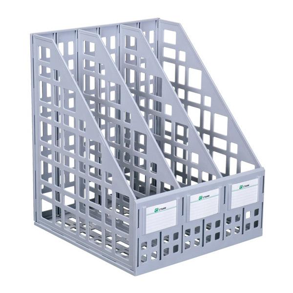 Многосекционный накопитель для бумаг Стамм ЛТ80, 240 мм, 3 секции, серый