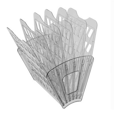 Многосекций лоток для бумаг Стамм ЛТ98, А4, 275х365х325 мм, 6 секций, серый