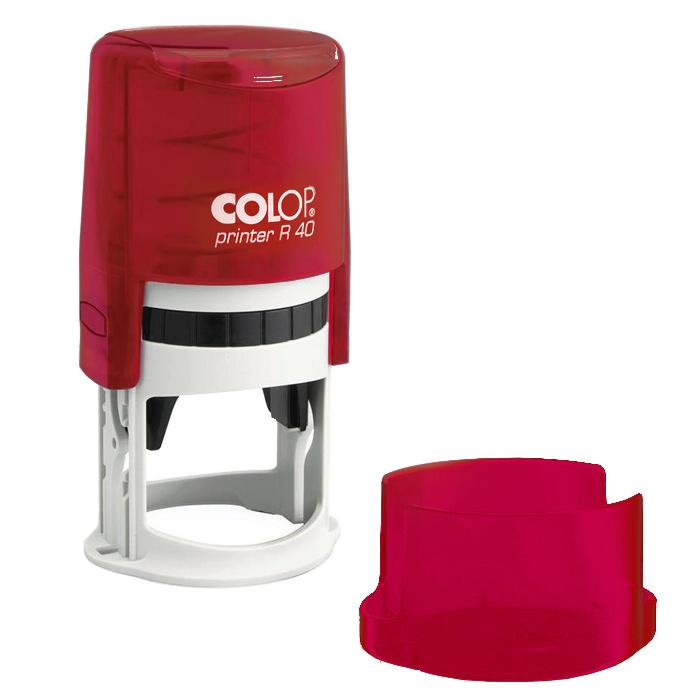 Оснастка для круглой печати Colop Printer R40 с крышкой, d=40мм, рубиновая