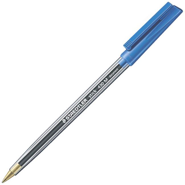 Ручка шариковая Staedtler Stick document 430М03, 0,8мм, синяя