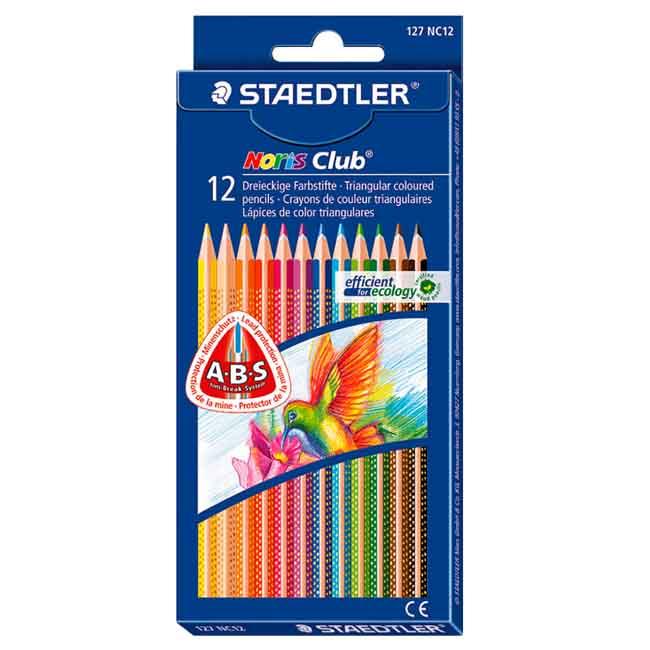 Набор цветных карандашей Staedtler Noris club, 12 цветов, 127-NC12