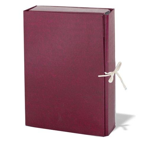 Архивная папка на завязках, А4, 85мм, бордовая