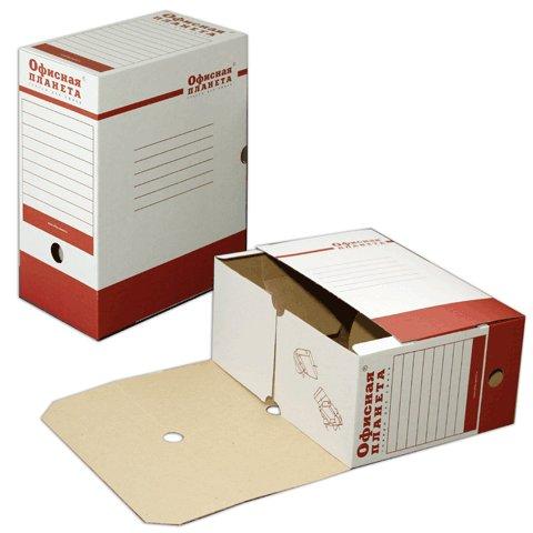 Архивный бокс Офисная Планета 122746, А4, 150мм, бело-красный