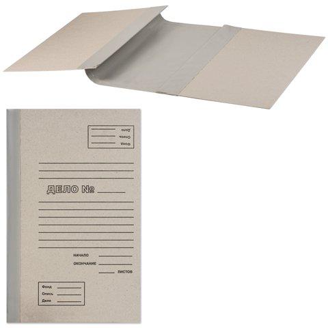 Архивная папка для переплета 71759, А4, 100мм, серая