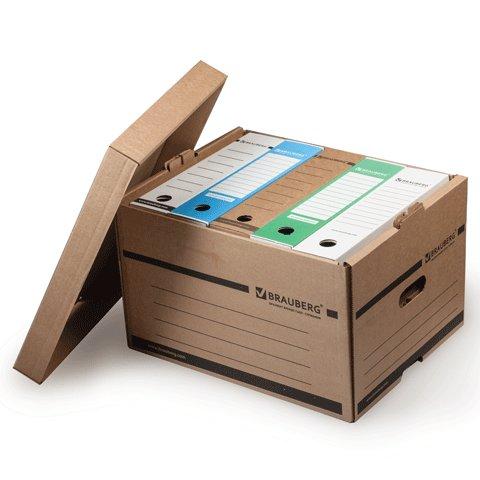 Архивный короб Brauberg 126521, 265x405x330мм, коричневый