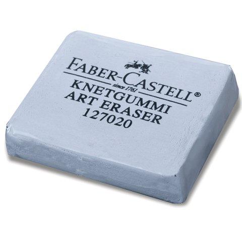 Ластик профессиональный для чернографитных карандашей, угля, пастели Faber-Castel 127020, серый