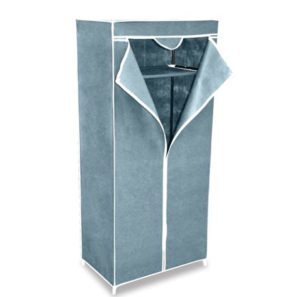 Шкаф для одежды тканевый, металлический каркас, 1550х700х440 мм