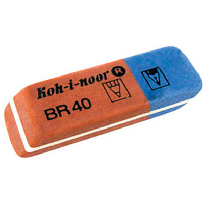 Ластик для карандаша и ручки Koh-I-Noor, BR 40, синий/красный