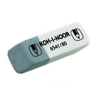 Ластик для карандаша и ручки Koh-I-Noor, 6541, 80, серый/белый