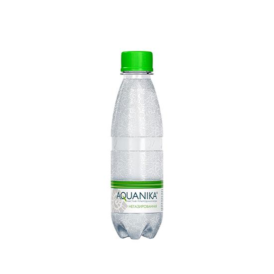 Вода минеральная Aquanika, негазированная, ПЭТ, 0,2 л