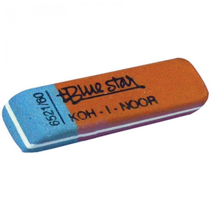 Ластик для карандаша и ручки Koh-I-Noor, BR 60, синий/красный, 60