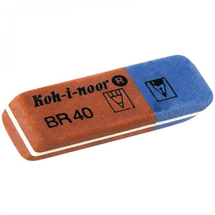 Ластик для карандаша и ручки Koh-I-Noor, BR 40, синий/красный, 40
