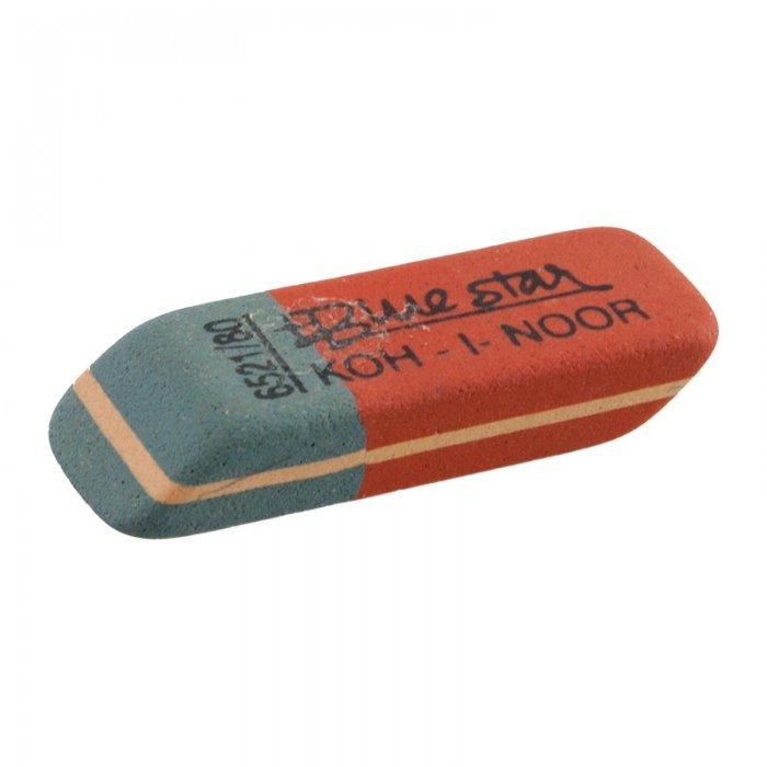 Ластик для карандаша и ручки Koh-I-Noor, BR 80, синий/красный, 80