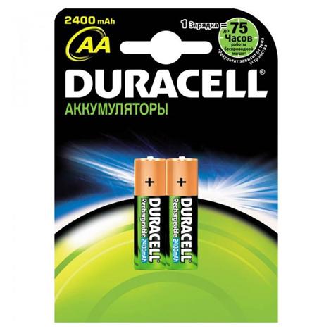 Аккумуляторы Duracell AA/HR6 NiMH, 2400mAh, 2шт/упак