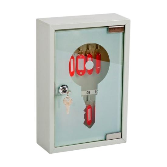 Шкаф Office-Force для ключей,серый, подвесной, 10 шт