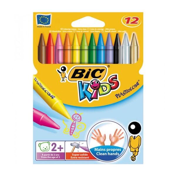 Мелки Bic Plastidecor пластиковые, 12цв