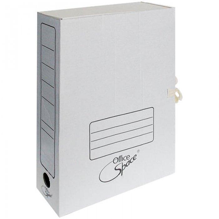 Архивная папка на завязках Office Space A-GAT75_368, А4, 75мм, белая