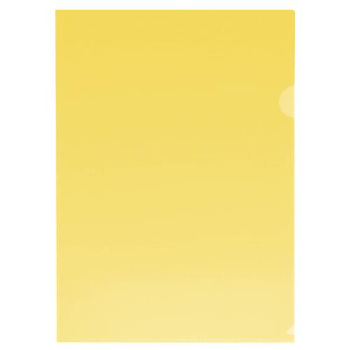 Папка-уголок Бюрократ A4, 180мкм, желтая