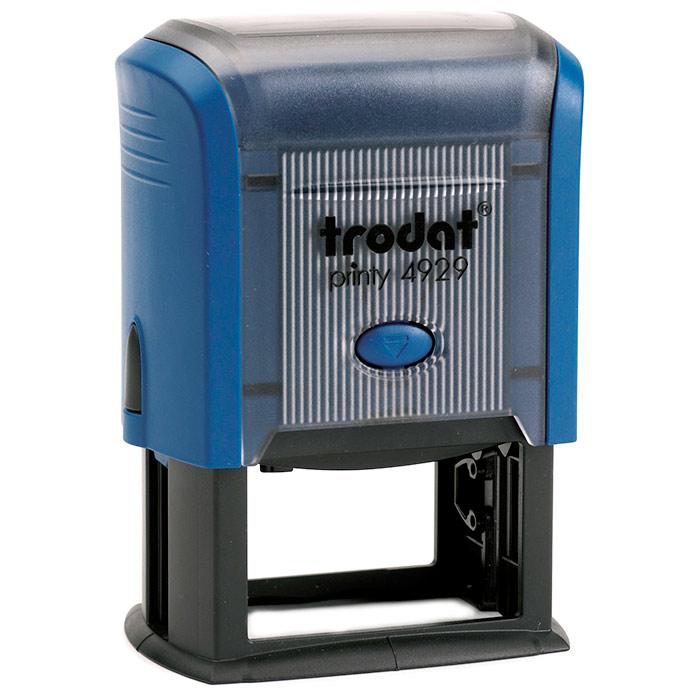 Оснастка для прямоугольной печати Trodat Printy 4929, 50х30мм, синяя
